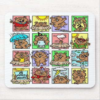 Funny Groundhog Day Cartoons Mouse Mat