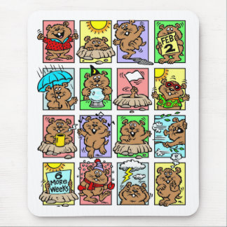 Funny Groundhog Day Cartoons Mouse Pad
