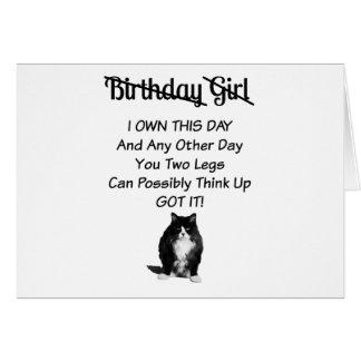 Funny Grumpy Cat Birthday Girl Card