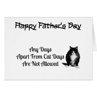 Funny Grumpy Cat Fathers Day Card