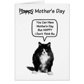 Funny Grumpy Cat Mother's Day Card