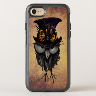 Funny Grumpy Owl in a Steampunk Hat and Goggles OtterBox Symmetry iPhone 7 Case