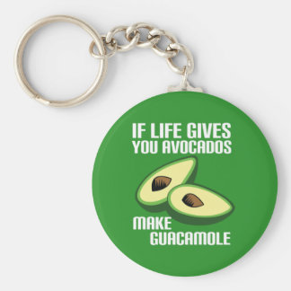 Funny Guacamole Avocado Joke Key Ring