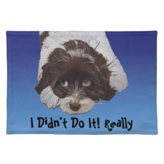 Funny Guilty Cocker Spaniel Place Mats