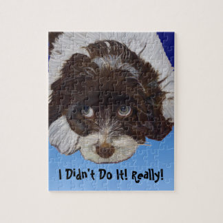 Funny Guilty Cocker Spaniel Jigsaw Puzzle