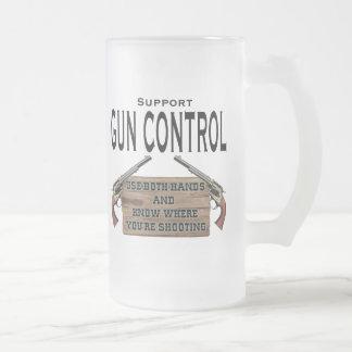 Funny Gun Contol Beer Mug