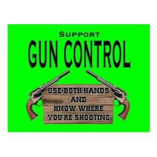 Funny Gun Control Postcard #1