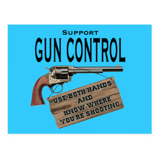 Funny Gun Control Postcard #2