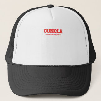 Funny Guncle College Print Trucker Hat