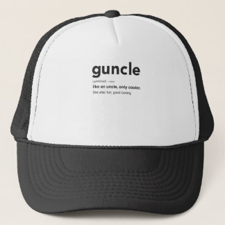 Funny Guncle Definition Print Trucker Hat
