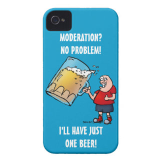 Funny Guy With Just One BIG Beer Case-Mate iPhone 4 Case