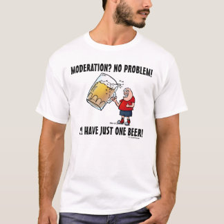 Funny Guy With Just One BIG Beer T-Shirt