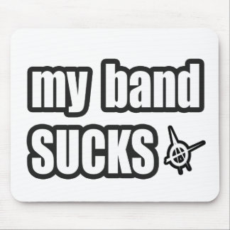 Funny guys girls Punk rock music band humor Mouse Pad