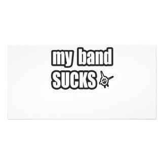 Funny guys girls Punk rock music band humor Photo Card