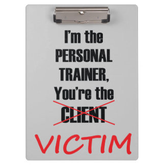 Funny Gym Fitness Training Clipboard