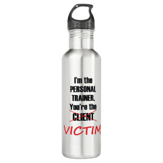 Funny Gym Fitness Training Water Bottle
