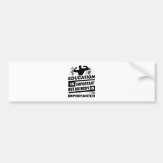 Funny Gym Sayings Bumper Sticker