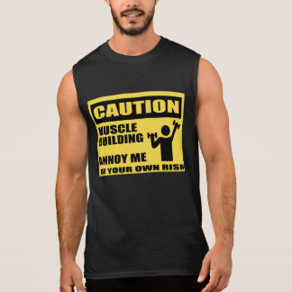 Funny Gym T Shirts,muscle building Sleeveless Shirt