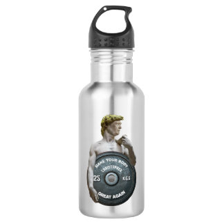Funny Gym Workout David As Donald Trump Half Body 532 Ml Water Bottle