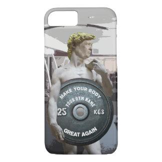 Funny Gym Workout David As Donald Trump Half Body iPhone 8/7 Case