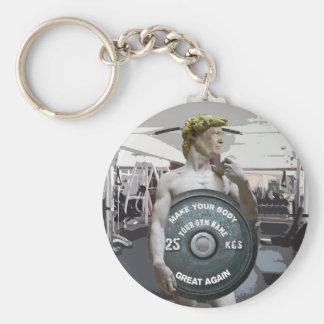 Funny Gym Workout David As Donald Trump Half Body Key Ring