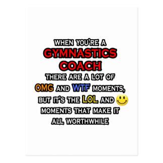 Funny Gymnastics Coach ... OMG WTF LOL Postcard