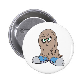 funny hair monster with shoes pinback buttons