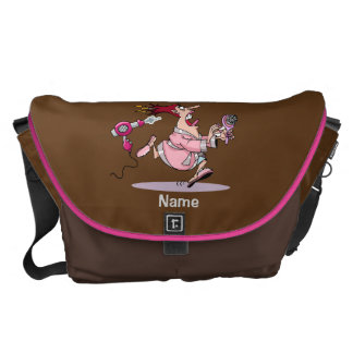 Funny Hairdresser hair stylist bag personalized Courier Bags