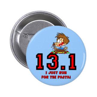 Funny half marathon 6 cm round badge