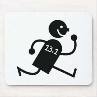 Funny half marathon mouse mat