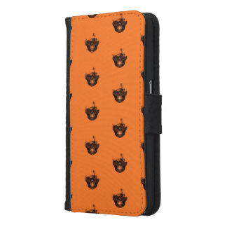 Funny Halloween - Burned Skull Pattern Samsung Galaxy S6 Wallet Case