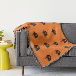 Funny Halloween - Burned Skull Pattern Throw Blanket