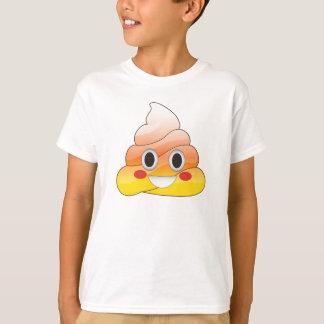Funny Halloween Candy Corn Emoji Poop Shirt
