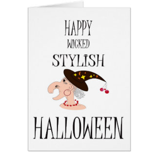 Funny Halloween card with style