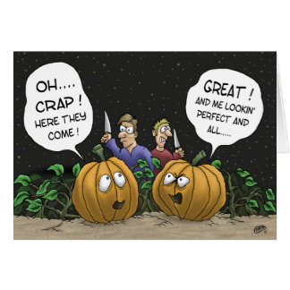 Funny Halloween Cards: Pumpkin Perspective Card