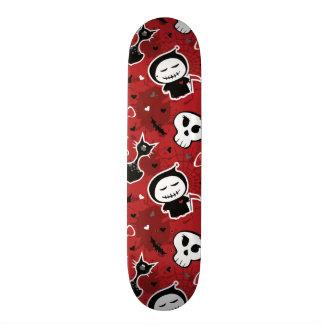 Funny Halloween Characters Pattern 18.1 Cm Old School Skateboard Deck