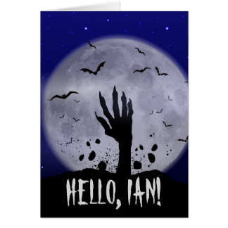 Funny Halloween Greeting Card for Ian