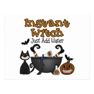 Funny Halloween Instant Witch Postcards