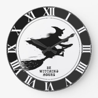 Funny Halloween Large Clock