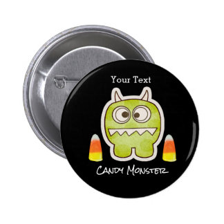 Funny Halloween Monster, Candy Corn Trick or Treat 6 Cm Round Badge