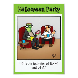Funny Halloween Party Invitation