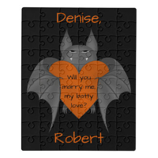 Funny Halloween proposal Jigsaw Puzzle