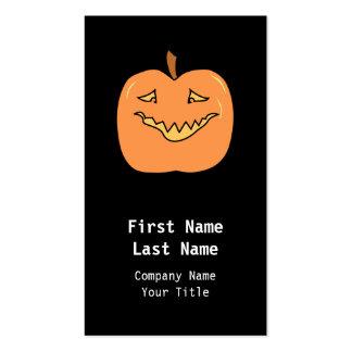 Funny Halloween Pumpkin Cartoon Business Cards