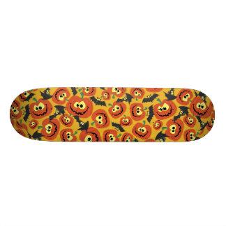 Funny Halloween Pumpkins & Bats Skate Board Deck