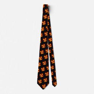Funny Halloween Scary Pumpkin Office Work Costume Tie