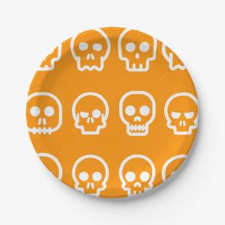 Funny Halloween Skulls Paper Plate