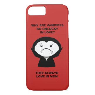 Funny Halloween Vampire joke iPhone 8/7 Case
