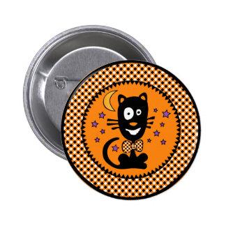 Funny Hallowen Kitty Button Rnd