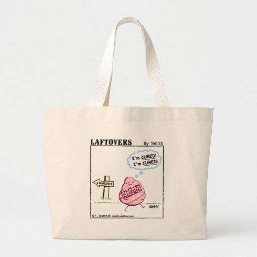 Funny Ham  Cartoon Reusable Grocery Tote Bag