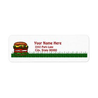 Funny Hamburger Picnic Return Address Label